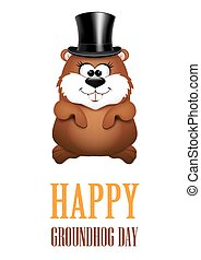 Happy Groundhog Day greeting Cards Vector illustration