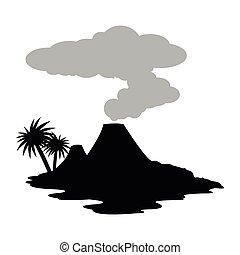 nature icon design - nature concept with volcano design,...