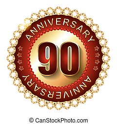 90 Years anniversary golden label