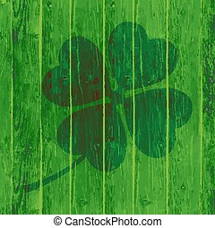 St. Patrick`s Day Background or Card on Wooden Background.
