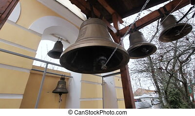 Ancient church bells in the belfry.