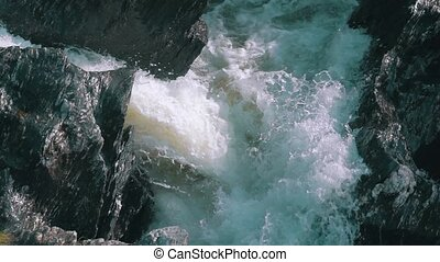 Waterfall in the Lava Fields, slow motion