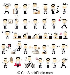 Businessman in various poses