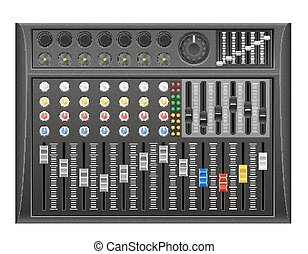 panel console sound mixer vector illustration isolated on...