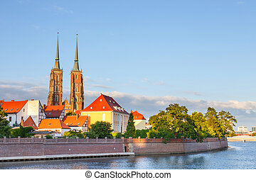 View of the Cathedral of St John in Wroclaw, Poland
