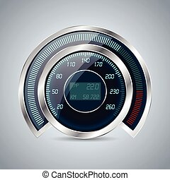 Fully digital speedometer rev counter with lcd display in...