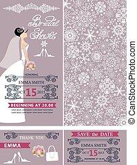 Bridal shower wedding cards.Bride,Winter ornament - Wedding...
