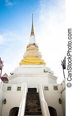 Stupa at Wat Yan Nawa, Charoen Krung Road, Khwaeng Yan Nawa,...