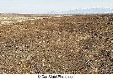 Nasca Lines - air view at the famous Nasca Lines inSouth...