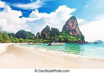 Railay beach in Krabi Thailand Asia