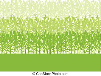 Corn field abstract rural autumn biomass biofuel vector...
