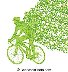 Cyclists rider winner vector background concept made of...