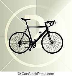 Race road bike bicycle icon banner vector abstract illustration