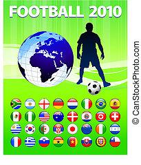 2010 Global Soccer Football Match Original Vector...
