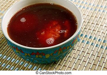 Iraqi Jewish Soup - Marak Kubbeh Red Iraqi Jewish Soup.made...