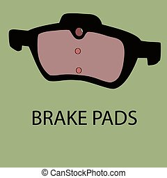 Brake pads vector icon - Brake pads vector site icon