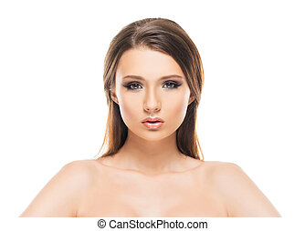 Portrait of a young woman in makeup - Attractive young woman...