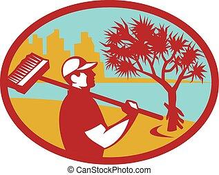 Cleaner Pandanus Tree Coast Oval Retro