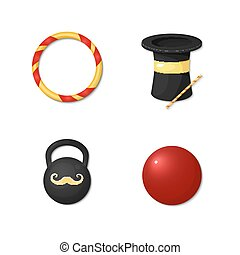 Vector icons circus artists