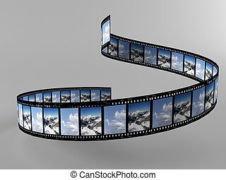 Foto - a 3d maded photofilm on a grey background