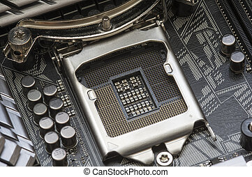 Computer CPU socket - Intel LGA 1151 cpu socket on...