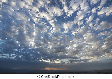 Clouds with the blue sky - Fluffy clouds and the blue sky