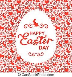 Easter greeting egg card