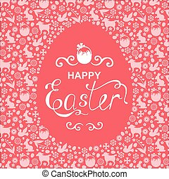 Easter greeting egg card
