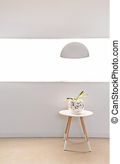 Modern and light furnitures in the house