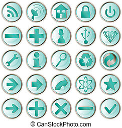 web direction icons button vector 3D