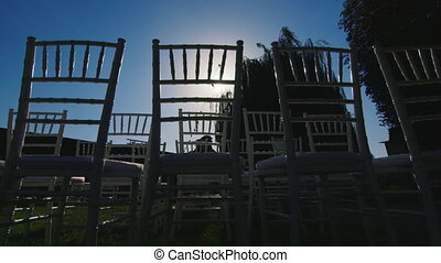Silhouettes chairs for marriage registration