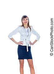business woman in a short skirt