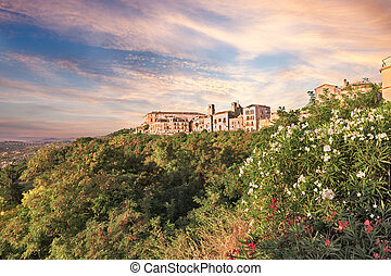 landscape of Vasto in Abruzzo, Italy - landscape of the old...