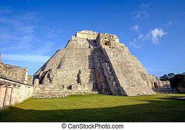 escénico, vista, de, prehistórico, Maya,...
