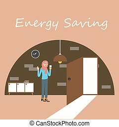 energy saving electricity switch off lamp turnght - energy...