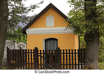 Old Wayside shrine in Skawina near Cracow. Poland
