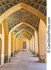 Nasir al-Mulk Mosque arcade hall vertical - Arcade hall...