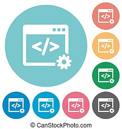 Flat web development icons - Flat web development icon set...