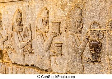 Armenian tribute relief detail Persepolis - Armenian tribute...