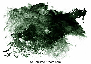 Green abstract paint