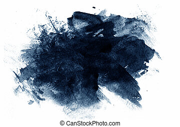 Blue abstract paint
