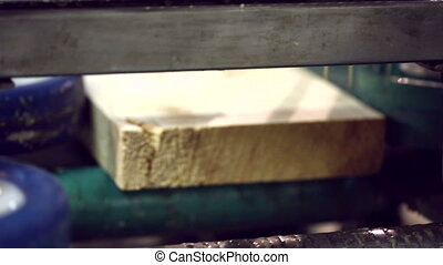Close-up of adhesive applied to timber - Woodworking....