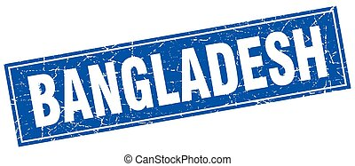 Bangladesh blue square grunge vintage isolated stamp