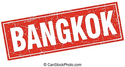 Bangkok red square grunge vintage isolated stamp