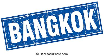 Bangkok blue square grunge vintage isolated stamp