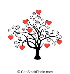 Tree with hearts