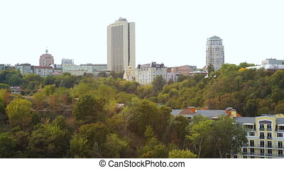 beautiful view of the panorama of the city Kiev