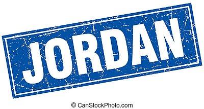 Jordan blue square grunge vintage isolated stamp
