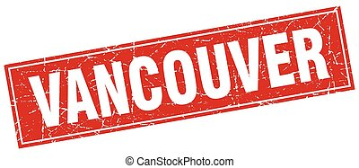 Vancouver red square grunge vintage isolated stamp