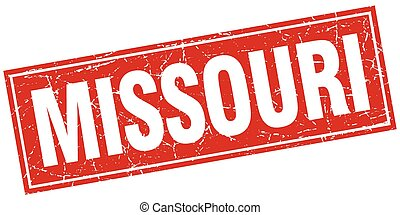 Missouri red square grunge vintage isolated stamp